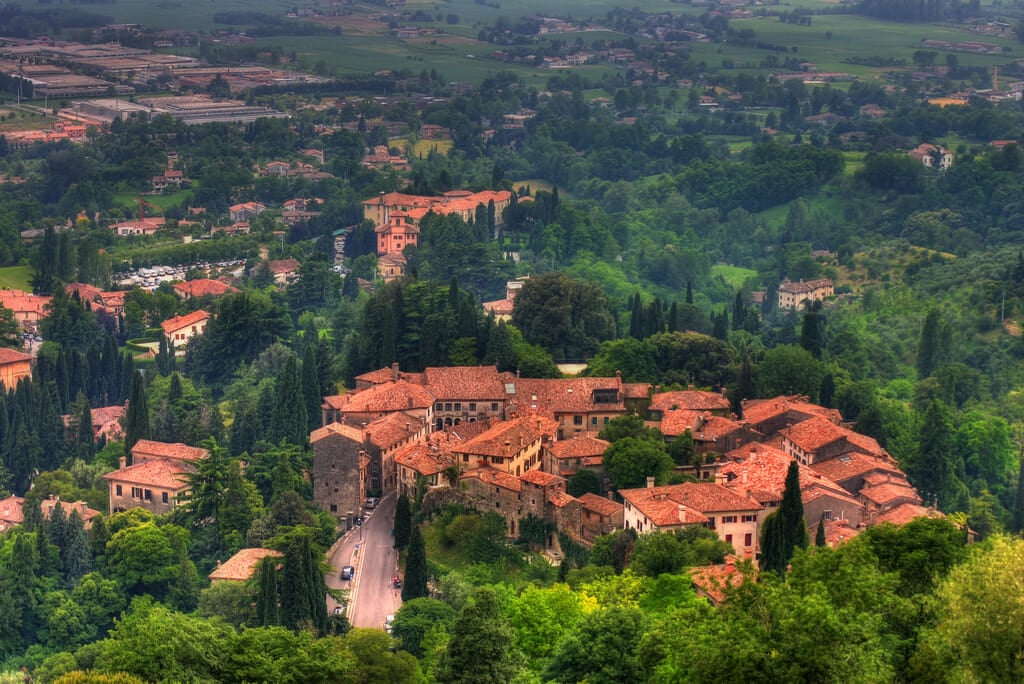 Asolo, view from the Rocca fortress