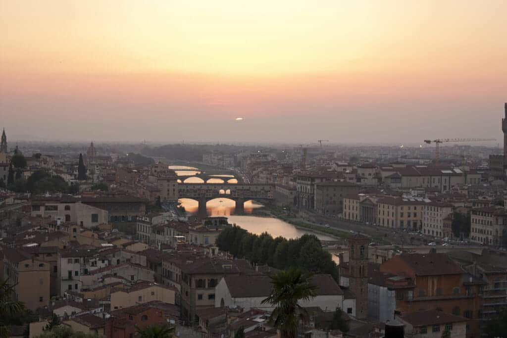 View of the city from Piazzale Michelangelo