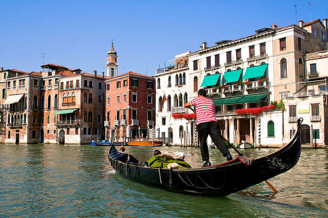 Italy Honeymoon Gondola ride
