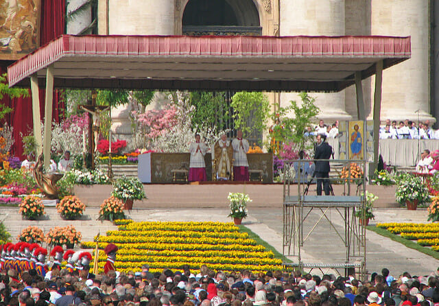 The Easter Mass in Rome