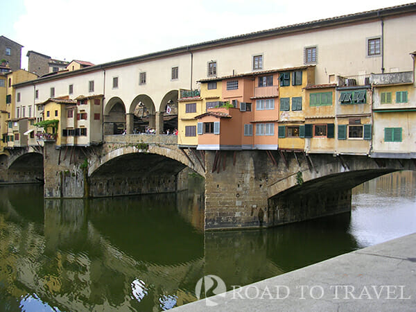 Ponte Vecchio Ponte Vecchio in Florence. It is the oldest bridge in the town and it is definitely one of the top Florence and Italy attractions.