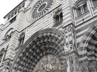 Genoa Cathedral The facade of San Lorenzo Cathedral in Genoa.